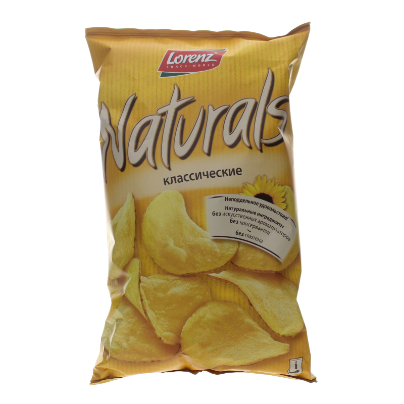 Чипсы картофельные Lorenz Naturals Классические с солью