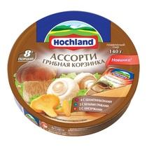 Сыр Hochland плавленый ассорти грибная корзинка