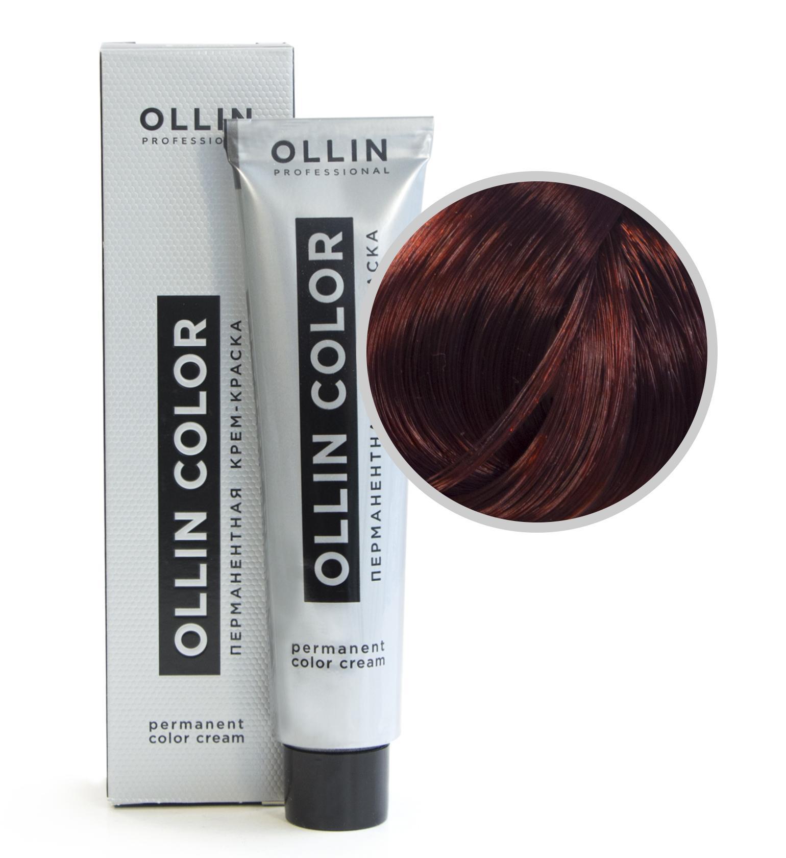 Перманентная крем-краска для волос Ollin Professional Ollin Color 5/4 Светлый Шатен Медный