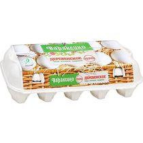 Яйцо столовое Со Деревенское п/ф Вараксино белое (10 штук)