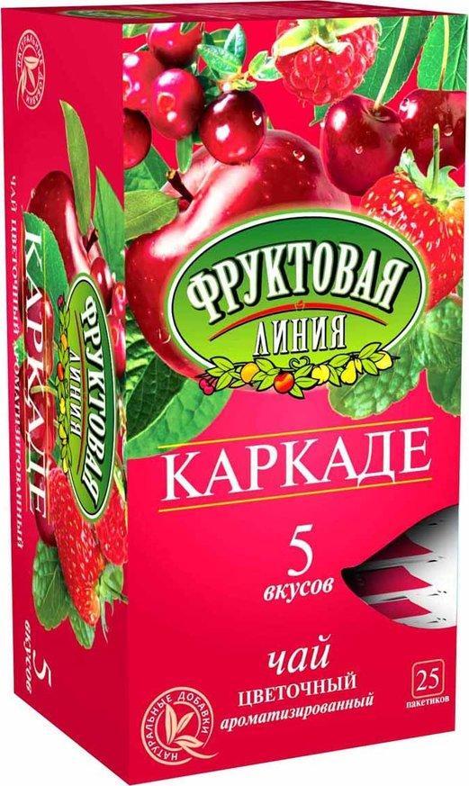 Чай Фруктовая Линия Ассорти Каркаде цветочный 37.5 гр