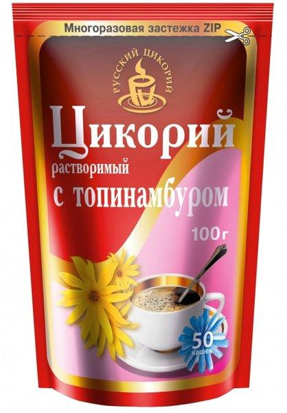 Цикорий Русский Цикорий растворимый с топинамбуром 100 гр