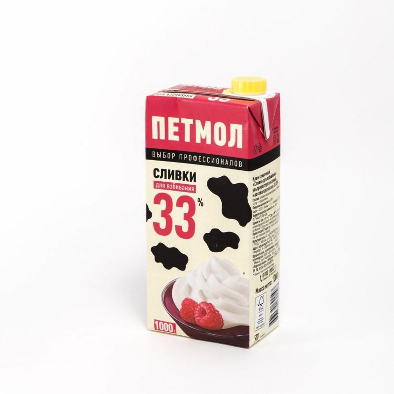 Сливки Петмол Для взбивания 33%, Россия