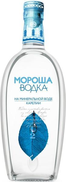 Водка Мороша на минеральной воде карелии уровень мягкости №2 40%