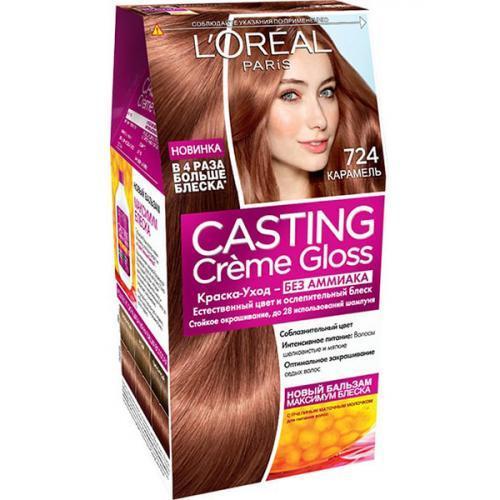 Краска-уход L'Oreal Paris для волос Casting Creme Gloss оттенок 724 Карамель