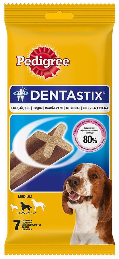 Лакомство Pedigree для средних пород DentaStix 180г