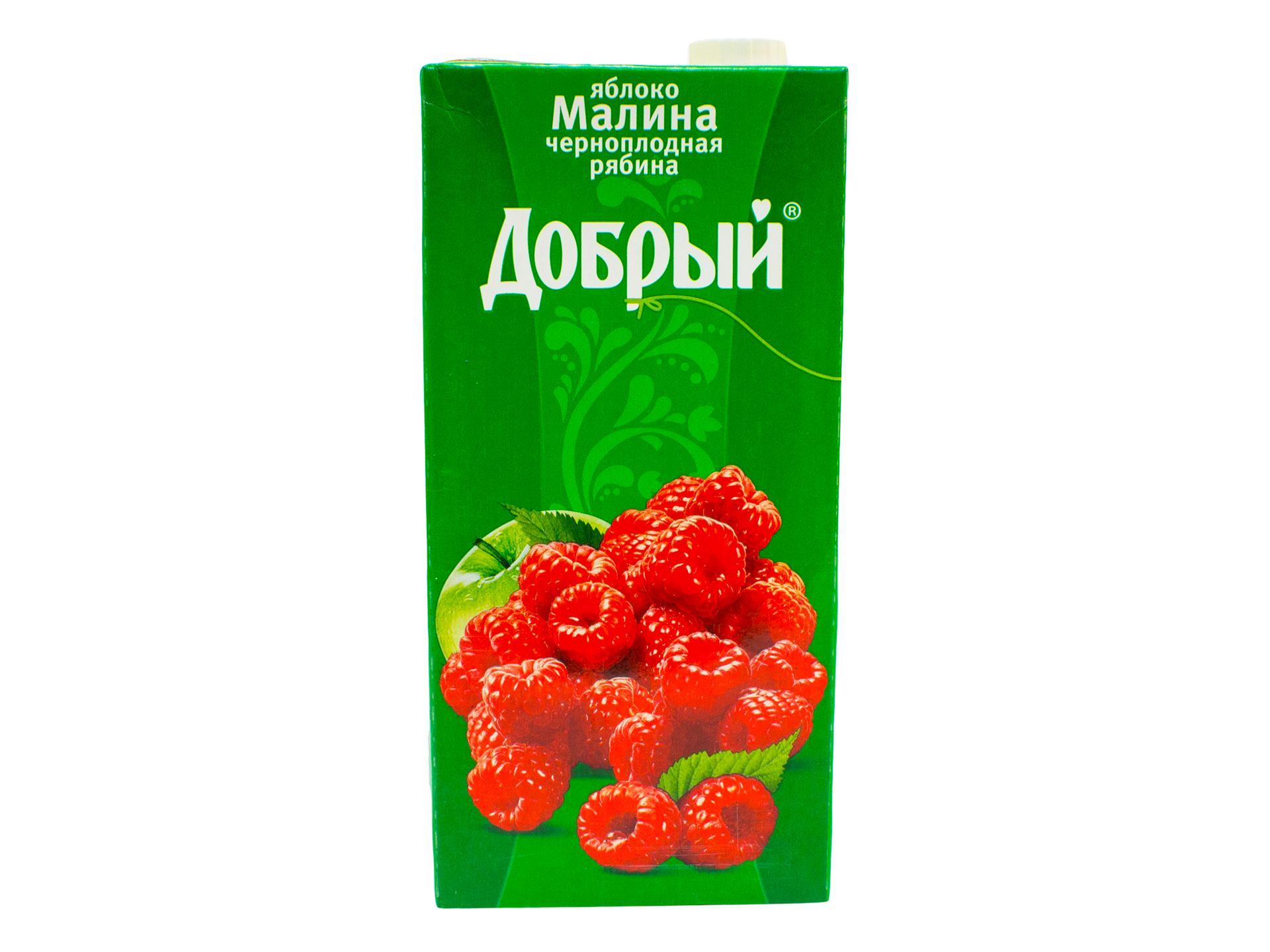 Нектар яблоко, черная рябина, малина Добрый, 2 л., Тетра-пак