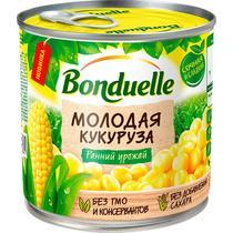 Кукуруза консервированная сладкая Bonduelle Молодая, ж/б 340 гр. (12 шт. в упаковке)