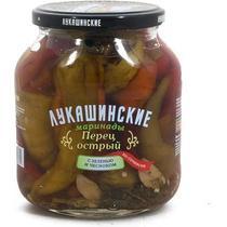 Перец Лукашинские Острый маринованный с зеленью и чесноком По-сочински