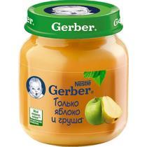 Пюре Gerber яблоко и груша с 5 месяцев