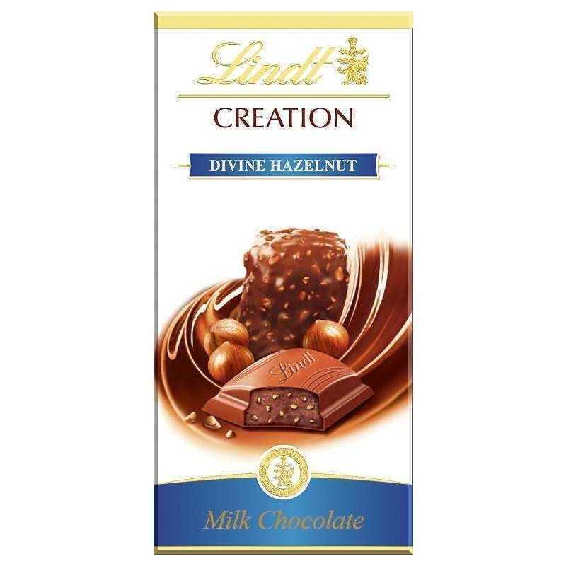 Шоколад Lindt Creation молочный с начинкой пралине из миндаля