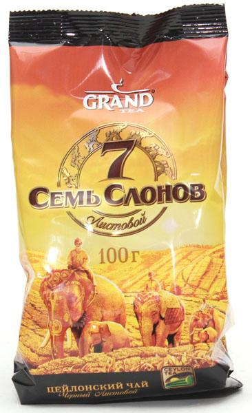 Чай черный Grand Листовой Семь Слонов