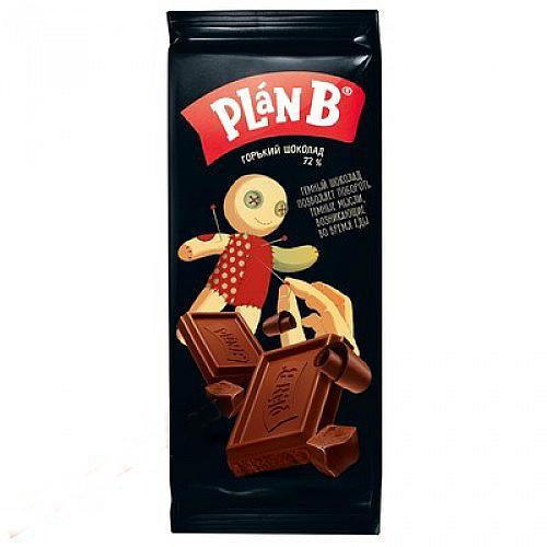 Шоколад Plan B горький 72%