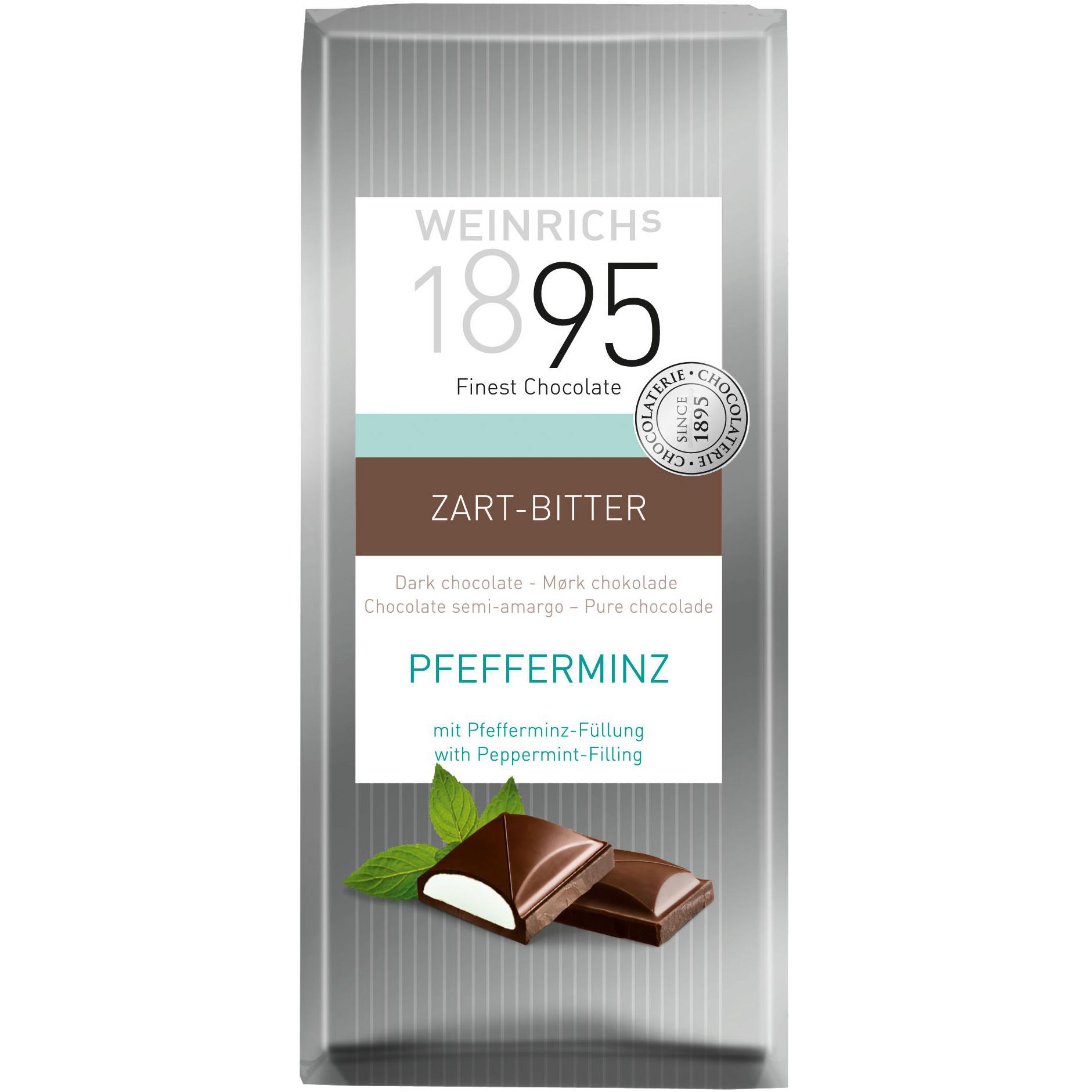 Шоколад Weinrich's Темный c мятной начинкой