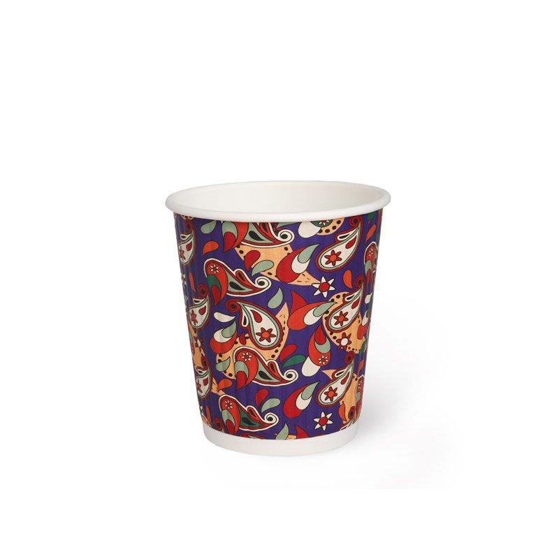 """Бумажный рифленый стакан """"Пэйсли"""", 250 мл (макс. 270 мл)"""