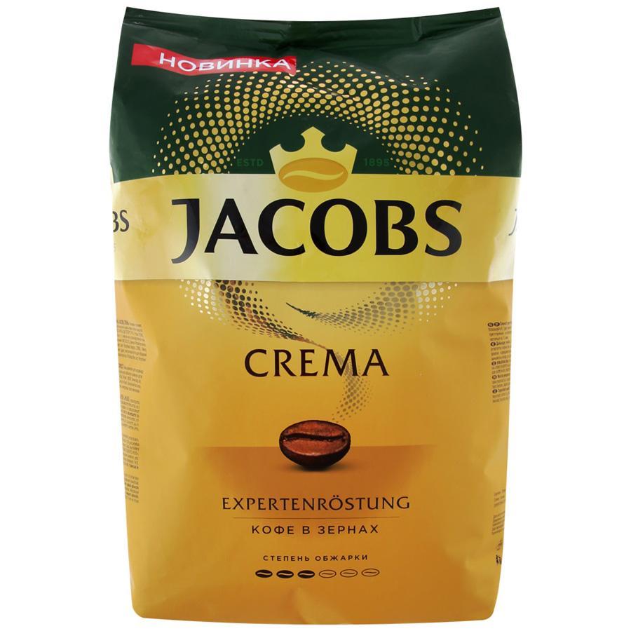 Кофе Jacobs Crema в зернах жареные