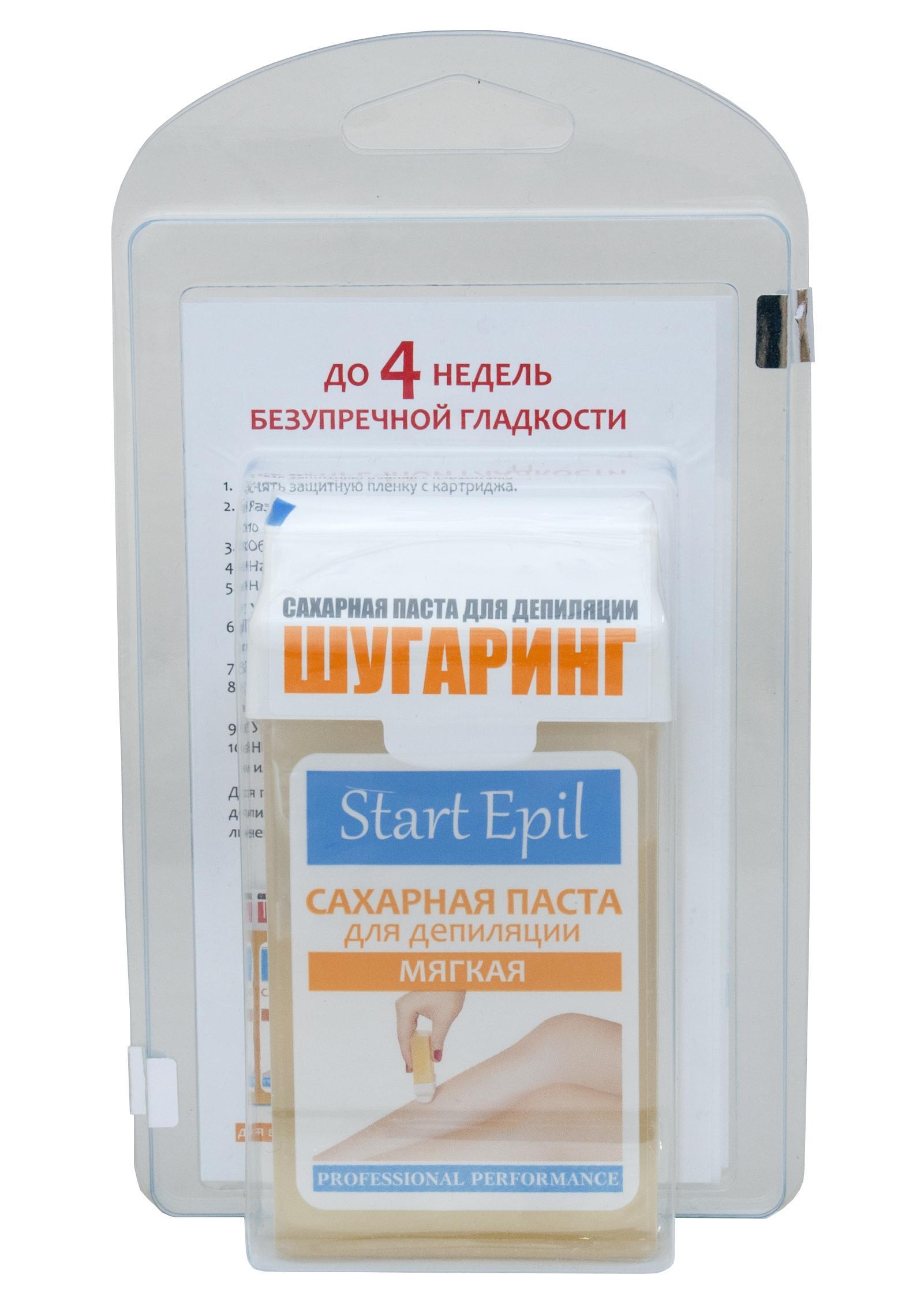 Набор Aravia для шугаринга мягкая сахарная паста в картридже и полоски для депиляции