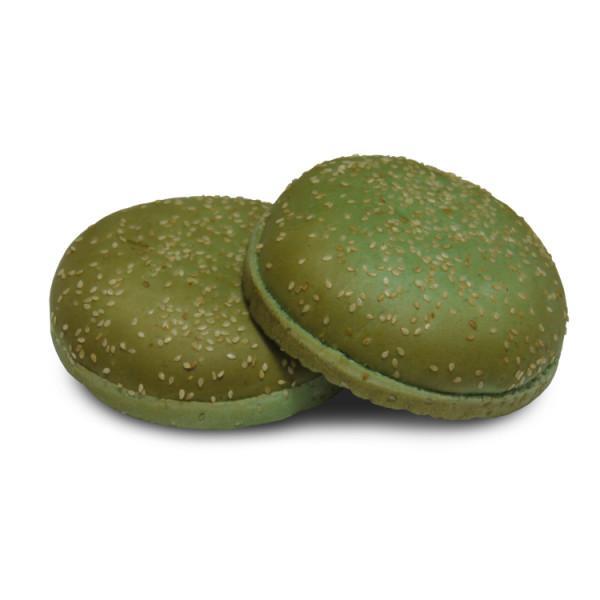 Булочка для гамбургера с кунжутом зелёная