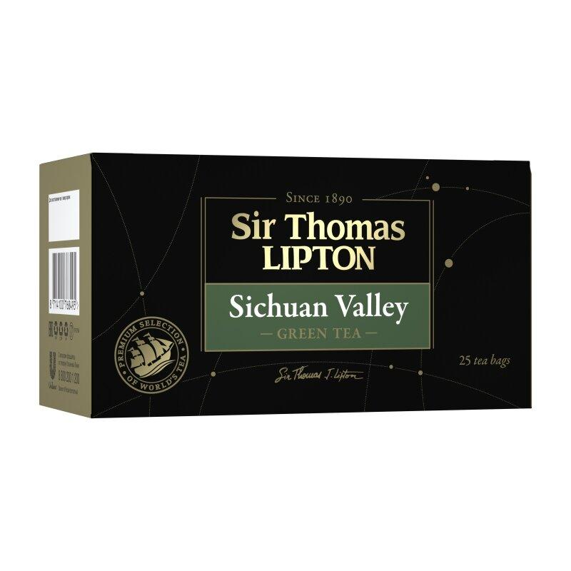 Чай Lipton Sir Thomas зелёный SICHUAN VALLEY 25шт.