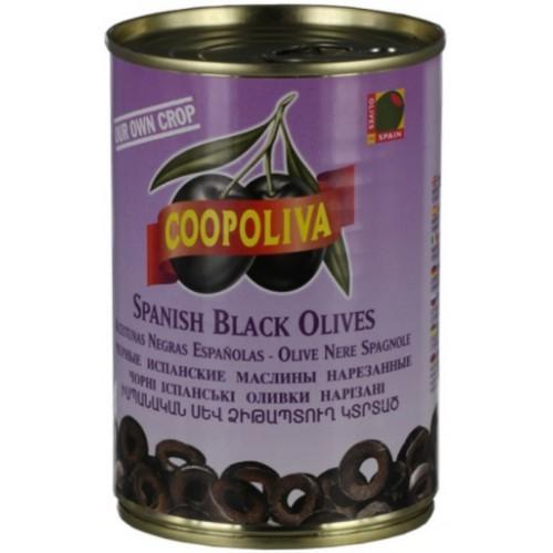 Маслины Coopoliva резаные