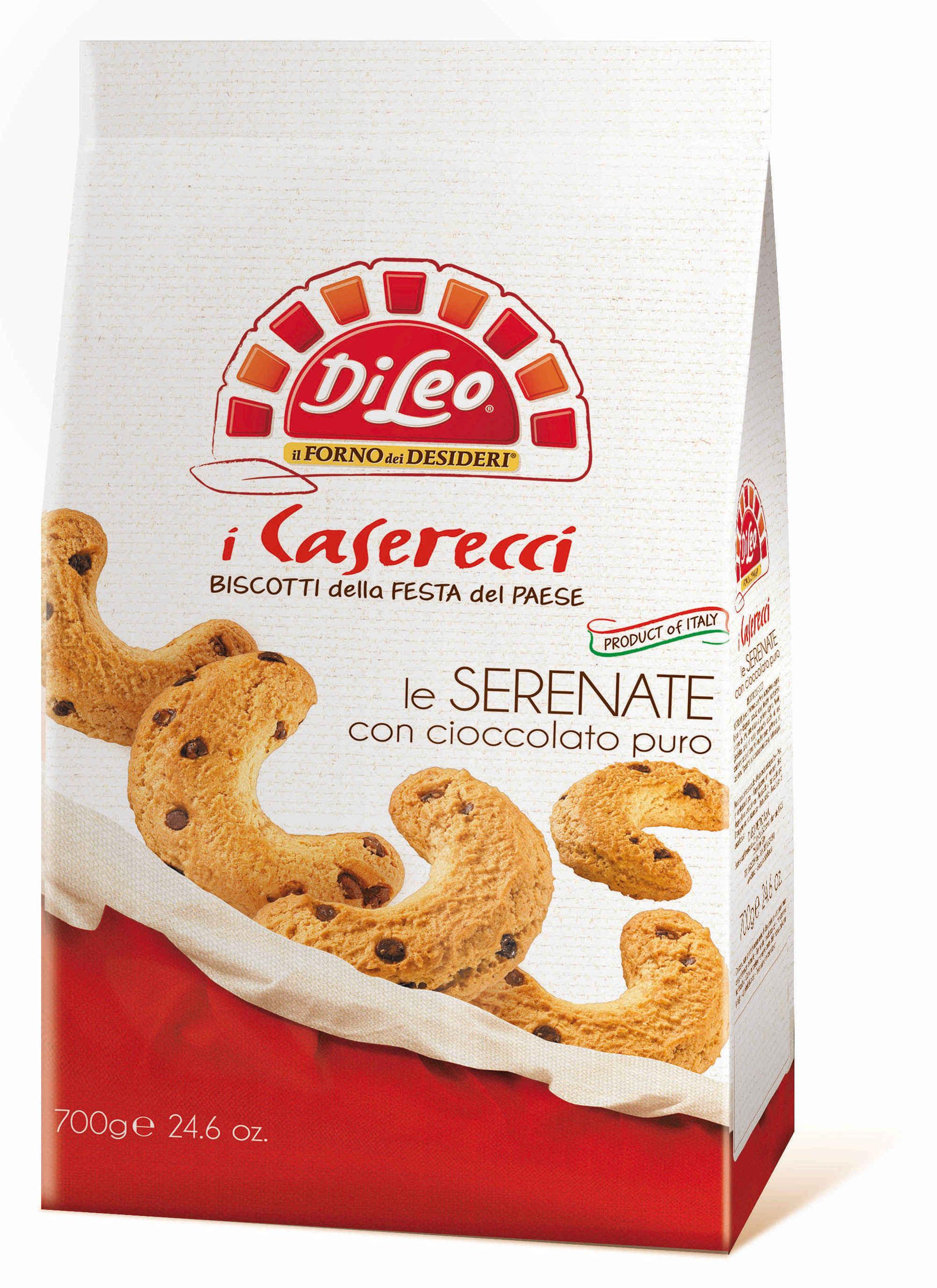 Печенье Di Leo Caserecci le Serenate con cioccolato