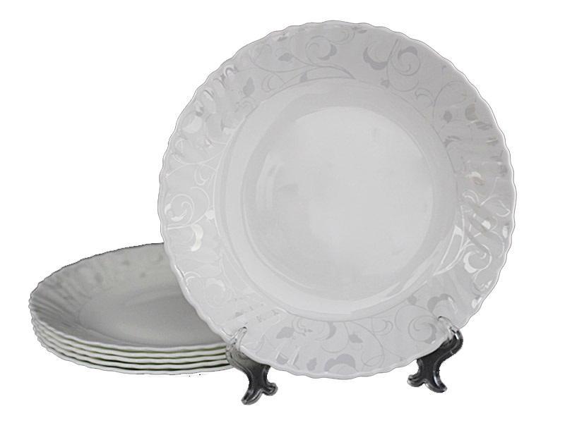 Набор Lenardi Серый шёлк 6 тарелок