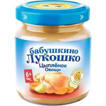 Пюре Бабушкино Лукошко цыпленок с овощами с 6 месяцев