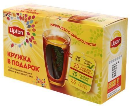Набор чая Lipton + Кружка
