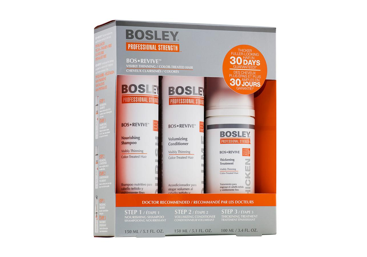 Набор Bosley для волос система оранжевая Bos Revive для истонченных окрашенных волос Bos Revive Starter Pack Visibly Thinning Color-Treated Hair