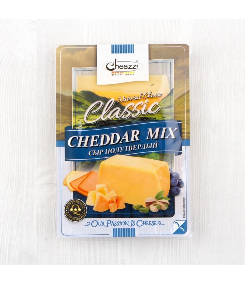 Сыр Cheezzi Чеддар полутвердый 50%