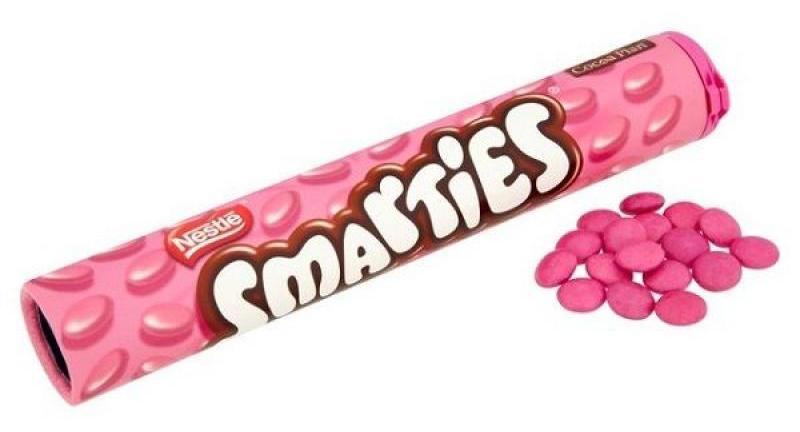 Драже Nestle Smarties Pink шоколадное