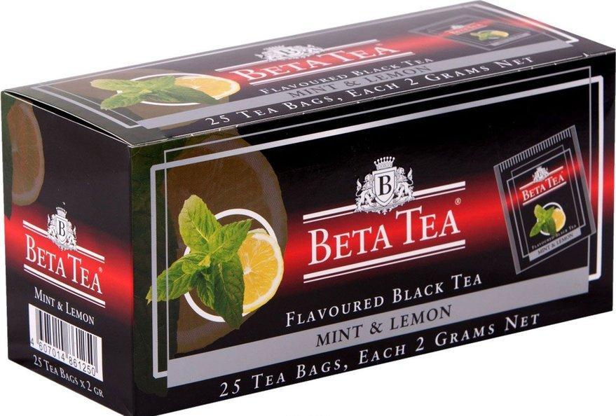 Чай черный Beta tea Mint & lemon 25 пакетов