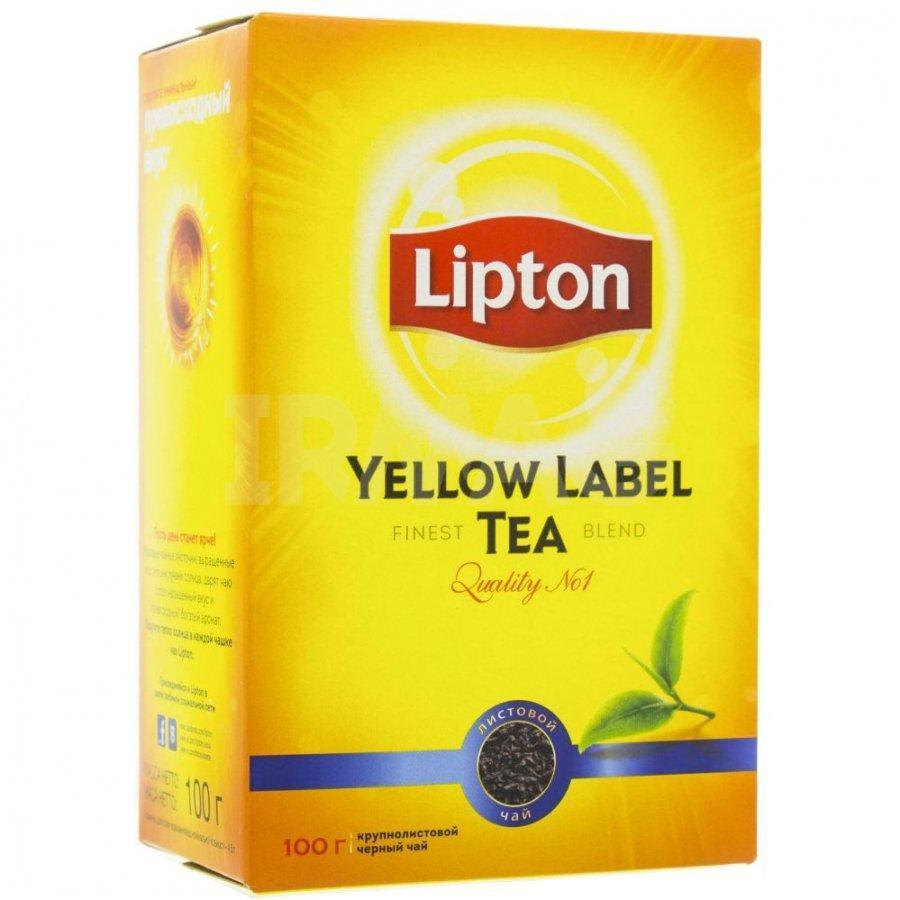 Чай черный Lipton Yellow Label Листовой