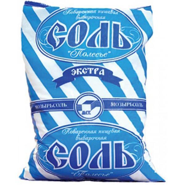Соль Полесье экстра пищевая поваренная