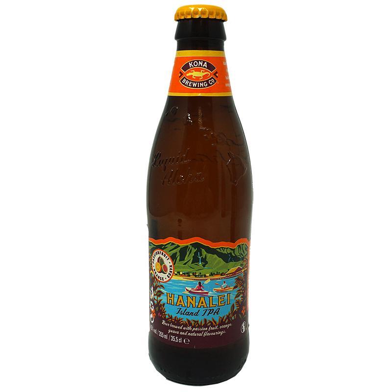 Пиво Kona Hanalei Island IPA солодовое пастеризованное нефильтрованное светлое 4,5%