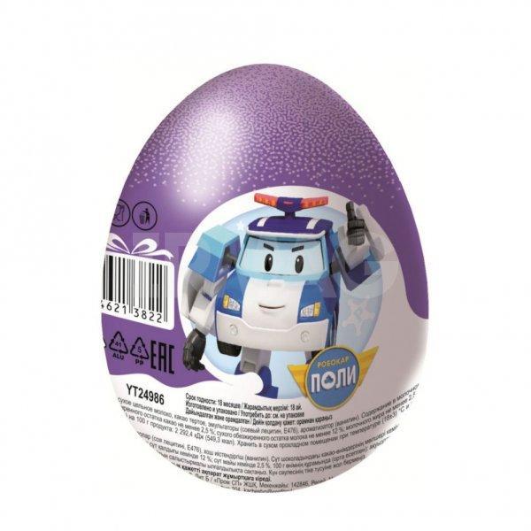 Шоколадное яйцо Конфитрейд Шоки-Токи Робокар Поли с игрушкой