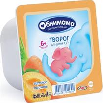 Творог Обнимама абрикос-морковь 4,2% 100 г