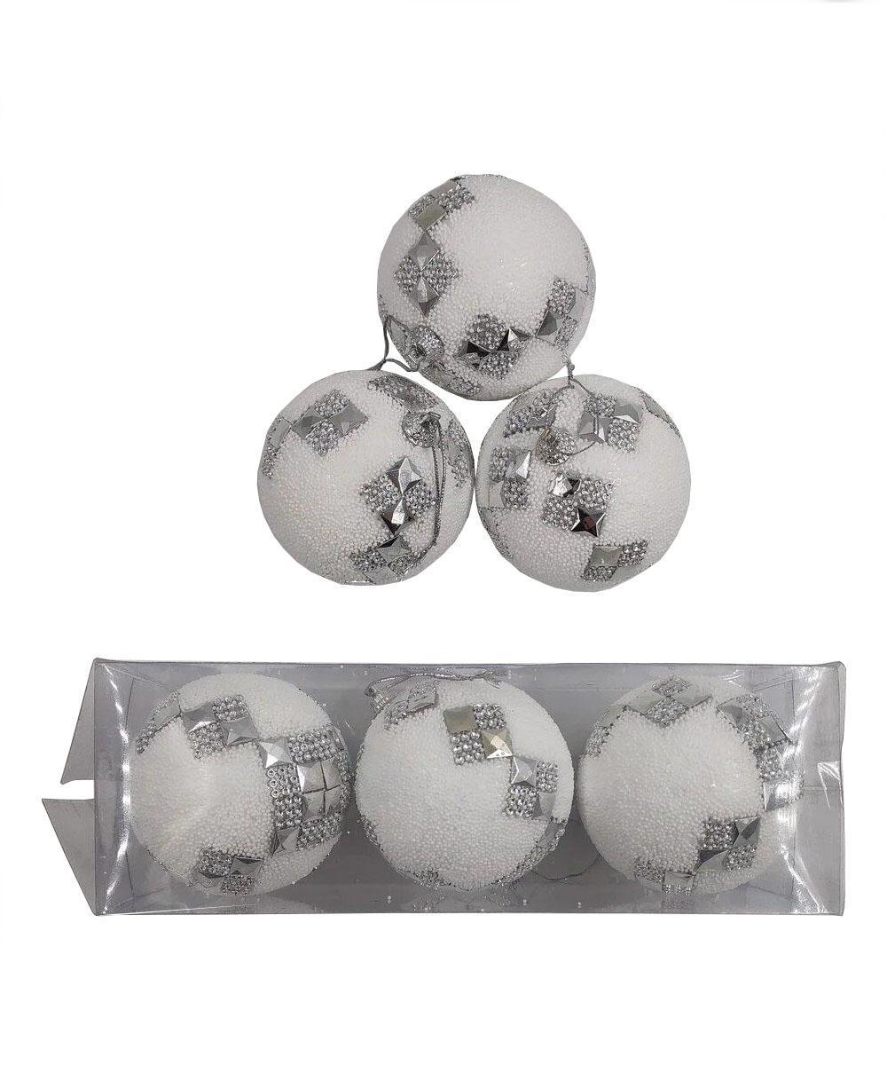 Елочные украшения Ниточка диаметр шара 8 см, 3 шт