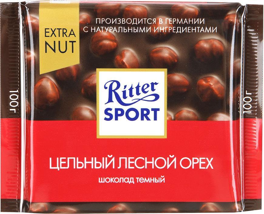 Шоколад Ritter Sport Milk Whole Hazelnut