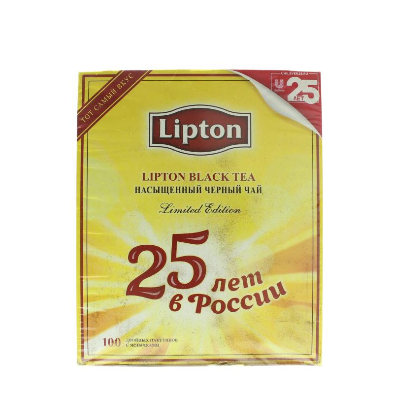 Чай Lipton Юбилейный 25 лет черный в пакетиках