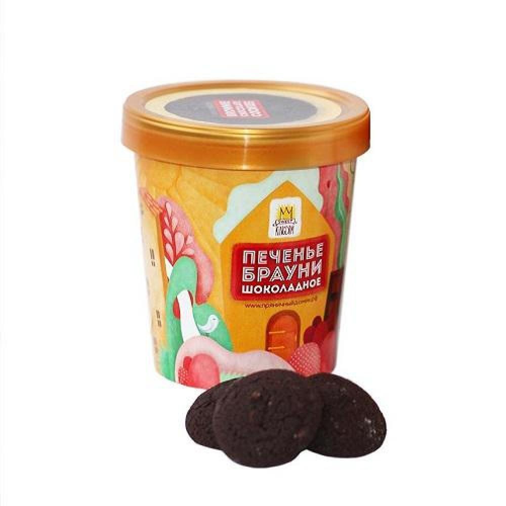 Печенье Стаканчик с печеньем Брауни шоколадное с арахисом