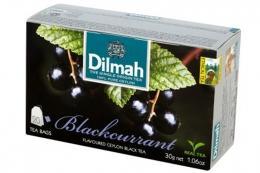 Чай Dilmah Цейлонский черный с ароматом черной смородины в пакетиках