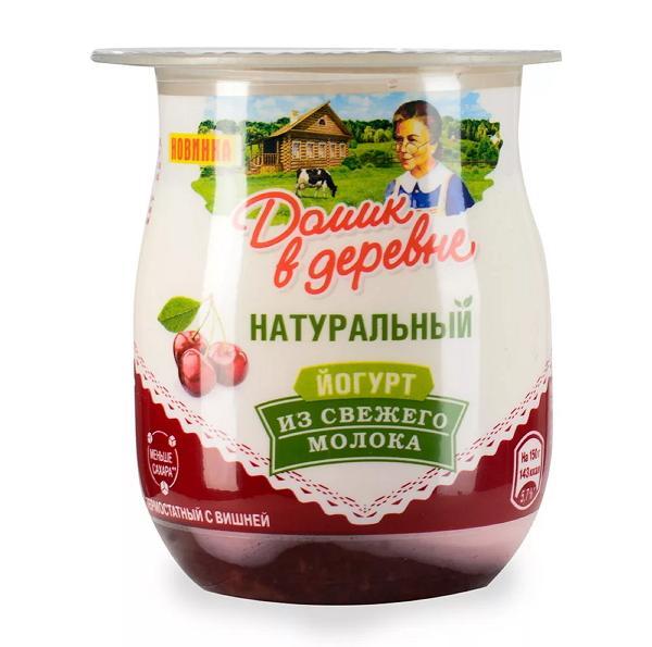 Йогурт Домик в деревне Вишня термостатный 3%