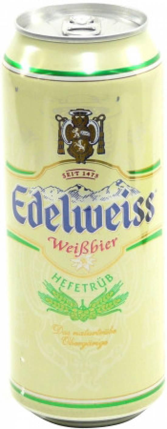 Пиво Edelweiss светлое нефильтрованное 5,2%