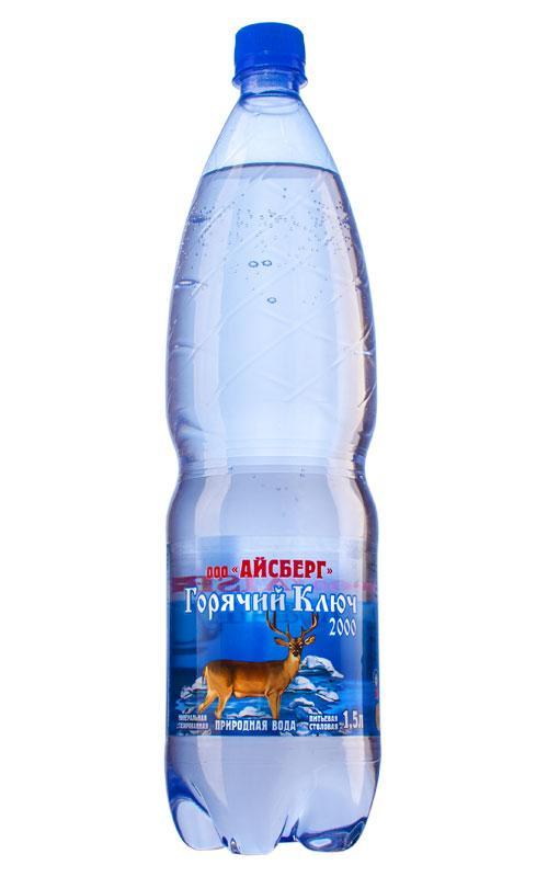Вода минеральная Айсберг Горячий Ключ 2000 Газированная