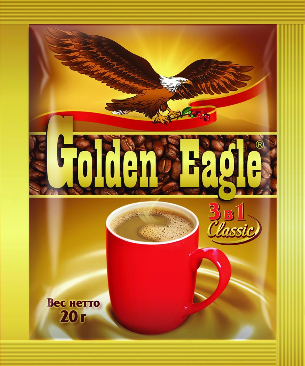 Напиток кофейный Golden Eagle растворимый 3 в 1