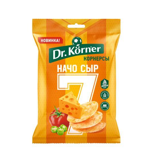 Чипсы Dr. Korner цельнозерновые кукурузно-рисовые с сыром