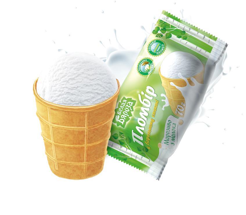 Мороженое Белая Бяроза Вафельный стакан пломбир