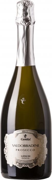 Игристое вино Просекко Миллезимато Супериоре Брют / Prosecco Millesimato Superiore Brut,  Глера,  Белое Полусухое, Италия