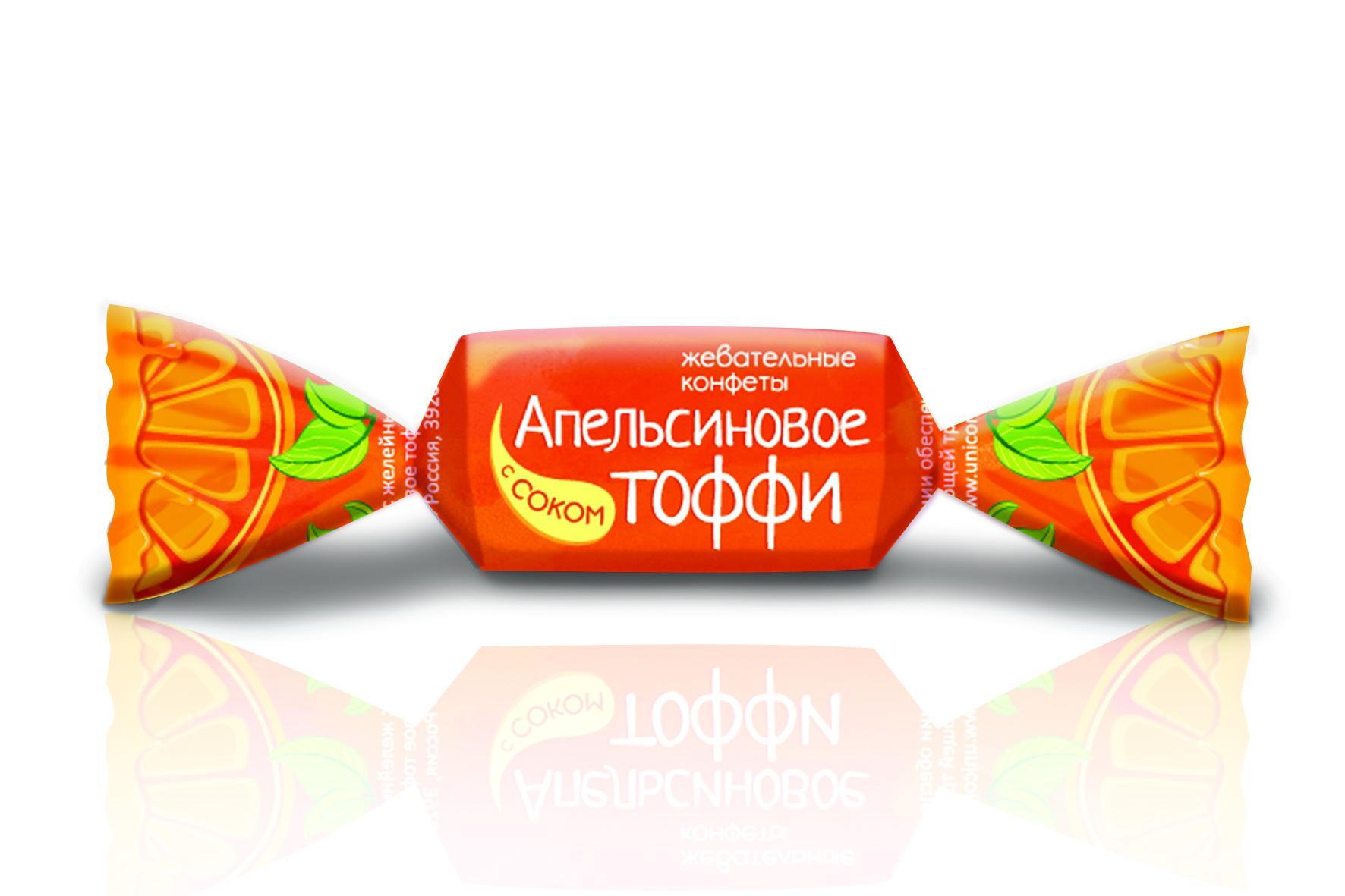 Конфеты ТАКф Апельсиновое тоффижевательные